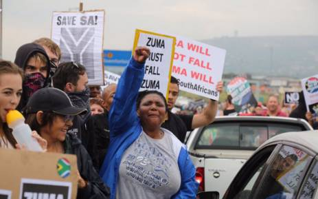 FILE: Anti-Zuma protesters on Beyers Naudé Drive, Johannesburg. Picture: Christa Eybers/EWN