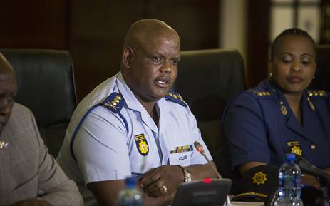 FILE: Acting National Police Commissioner Lieutenant-General Johannes Khomotso Phahlane addresses the media. Picture: Reinart Toerien/EWN.