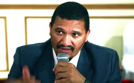 South Africa's deputy foreign minister Marius Fransman and negotiator for the SADC, the organ for defence and security of the Southern African Development Community, gives a press conference on August 12, 2012 in Antananarivo. Senior officials from the regional bloc SADC, seeking to end a three year crisis in Madagascar. Picture: AFP.
