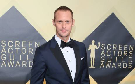 Alexander Skarsgard arrives for the 24th Annual Screen Actors Guild Awards at the Shrine Exposition Center on 21 January, 2018, in Los Angeles, California. Picture: AFP