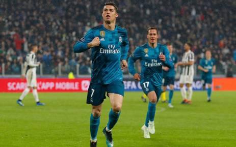 Real Madrid forward Cristiano Ronaldo celebrates a goal. Picture: @realmadriden/Twitter