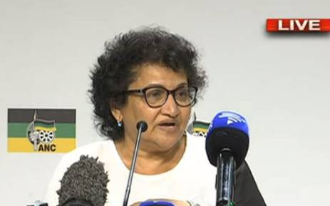ANC Deputy Secretary-General Jessie Duarte. Picture: YouTube screengrab.