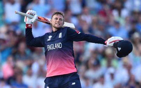 England's Joe Root celebrates a milestone score. Picture: AFP