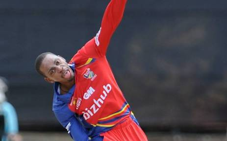 Highveld Lions' left-arm spinner, Aaron Phangiso. Picture: Cricket South Africa Facebook page.