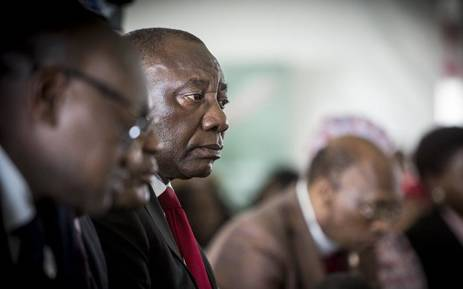 FILE: Deputy President Cyril Ramaphosa looks on during a World Aids Day event in Daveyton, east of Johannesburg on 1 December 2016. Picture: Reinart Toerien/EWN.