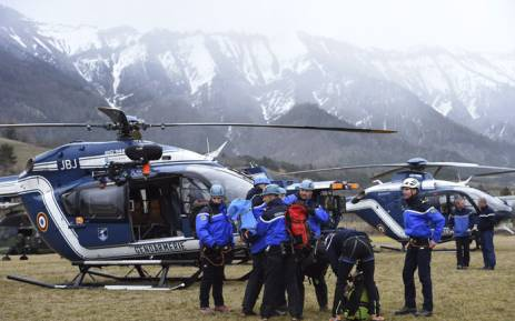 Rescuers prepare in a field where the rescue effort is headquartered on 24 March, 2015 in the southeastern French town of Seyne after a German Airbus A320 of the low-cost carrier Germanwings crashed, Picture: AFP.