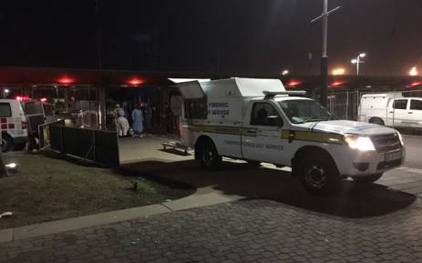 The scene outside the FNB Stadium where two people were been killed and several others injured in a stampede as Orlando Pirates took on Kaizer Chiefs on 29 July 2017. Picture: Christa Eybers/EWN