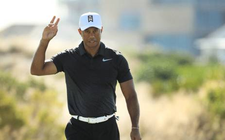 Tiger Woods of the United States reacts to his birdie on the eighth green during the first round of the Hero World Challenge at Albany, Bahamas on 30 November 2017 in Nassau, Bahamas. Picture: AFP