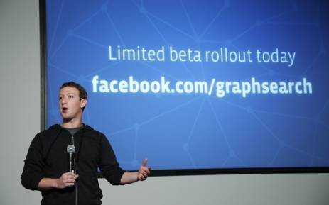 FILE: Facebook Chairman and Chief Executive Mark Zuckerberg. Picture: AFP.