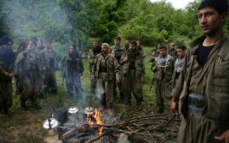FILE: Kurdistan Workers' Party fighters in the northern Iraqi city of Dohuk. Picture: AFP