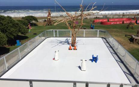 A synthetic ice rink was installed at the Rotary Blue Train Park. Picture: The Blue Train Park Facebook page.