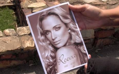 Reeva Steenkamp, who was shot dead by boyfriend Oscar Pistorius on 14 February 2013, was laid to rest in Port Elizabeth on 19 February 2013. Picture: Renee de Villiers/EWN.
