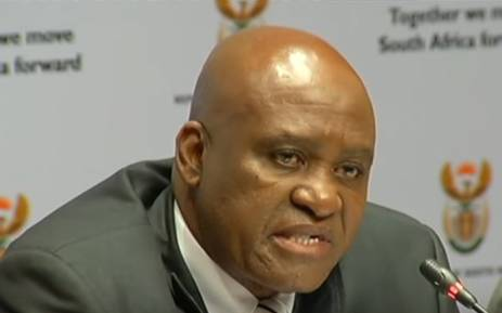 YouTube screengrab of head of the Hawks Berning Ntlemeza.