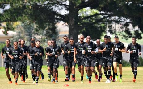Ajax Cape Town players on the training ground. Picture: @ajaxcapetown/Twitter