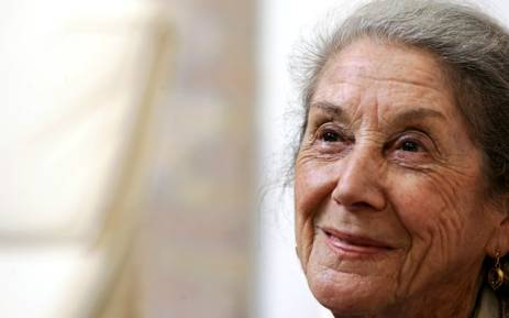 Renowned South African novelist Nadine Gordimer poses during the fifth edition of the Rome literature festival, 29 May 2006. Gordimer passed away aged 90 in Johannesburg on 13 July 2014. Picture: AFP.