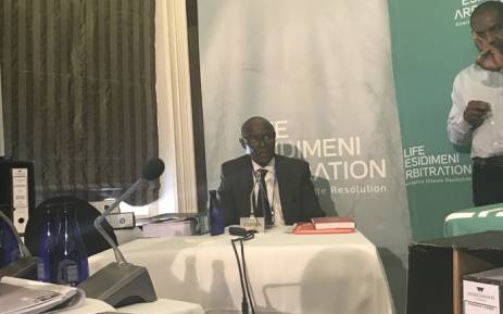 Reverend Joseph Maboe testified at the Esidimeni arbitration process on 19 October 2017. Picture: Masego Rahlaga/EWN