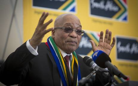 President Jacob Zuma addressed a group of South African Ministers and private sector parties at the World Economic Forum in Davos, Switzerland on 21 January 2016. Picture: Reinart Toerien/EWN.