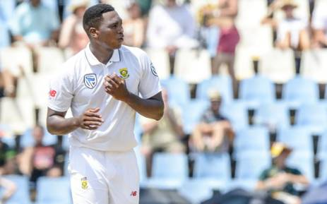 Lungi Ngidi picked up his first test wicket at SuperSport Park on day 2. Picture: Twitter/@OfficialCSA