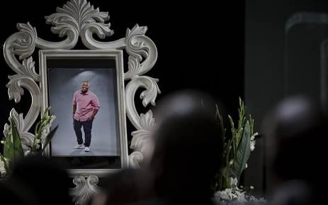 A framed picture of the late  Akhumzi Jezile seen at at the Rhema Bible Church in Randburg on 3 May 2018. Picture: Sethembiso Zulu/EWN