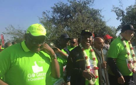 Ramaphosa takes part in annual Gandhi Walk