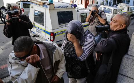 The woman who raised Zephany as her own arrives Western Cape High Court on the second day of her trial. Picture: Thomas Holder/EWN.
