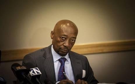 Tom Moyane at a press briefing in Johannesburg. Picture: Kayleen Morgan/EWN
