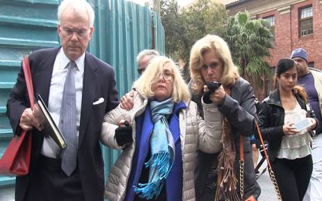 Gabriela Kabrins' family leaving Cape Town's Magistrate's court. Picture: EWN