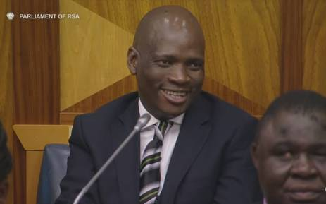 A screengrab of Hlaudi Motsoeneng as he and the SABC board appear before Parliament's Communications Portfolio Committee on 5 October, 2016.