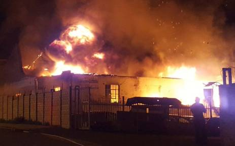The scene of a fire in Durban on 27 December, 2017. Picture: @rescuecare/Twitter