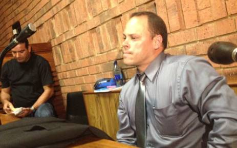 Investigating Officer Hilton Botha at the Pretoria Magistrate's Court during Oscar Pistorius' bail application. Picture: SAPA
