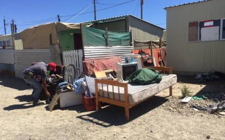 People illegally occupying emergency housing units in Wolwerivier near Atlantis have been evicted. Picture: Monique Mortlock/EWN.