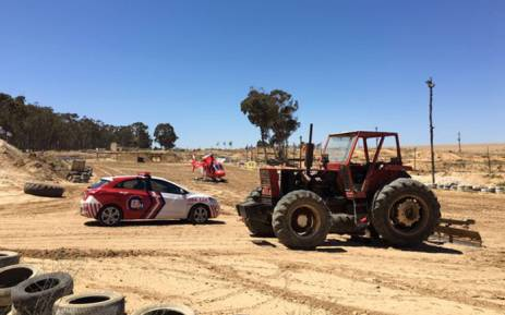 A 25-year-old man was airlifted to hospital after a 500kg tractor tyre fell on top of him at an off-road motor cross track in Morning Star near Table View. Picture: ER24.