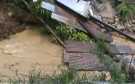 Landslide in Sri Lanka. Picture: Screengrab, Reuters video