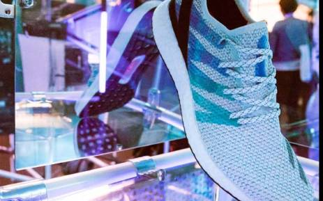 A sample AM4LDN shoe is displayed at the launch of Adidas' new shoe line in London. Picture: @adidas/Twitter.