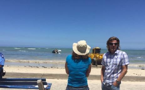 City of CT confirms they have requested 2 bigger bulldozers to remove the carcass of a whale. Picture: Twitter @Percyoung.