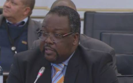 A screengrab showing Police Minister Nathi Nhleko.