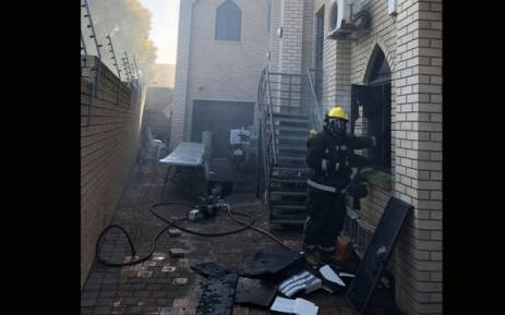 A mosque in Verulam, KwaZulu-Natal, was attacked by a group of men on 10 May 2018. Picture: Reaction Unit South Africa Facebook page.