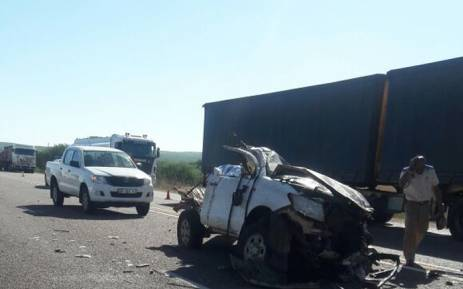 Eight people have been killed and one other critically injured on the N1 crash in Mookgopong, Limpopo. Picture: Koketso Motau/EWN.
