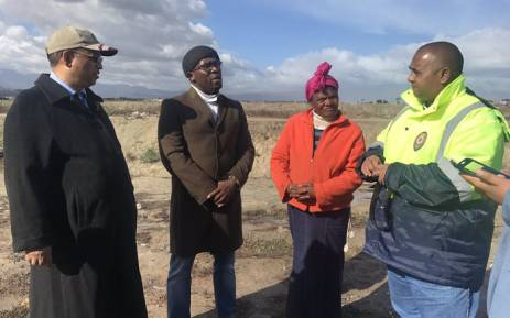 Bonginkosi Madikizela and Ivan Meyer visiting the community of Maccassar which is affected by the storm. Picture: Cindy Archillies/EWN.