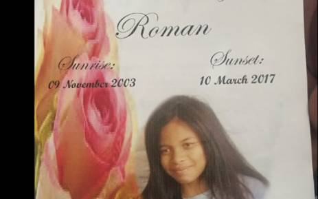 Lavender Hill community members came out in numbers to support the family of slain 13-year-old Rene Roman during her funeral on 1 April 2017. Picture: Monique Mortlock/EWN.