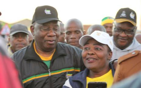ANC president Cyril Ramaphosa on the campaign trail in Tembisa on 18 May 2018. Picture: @MYANC/Twitter