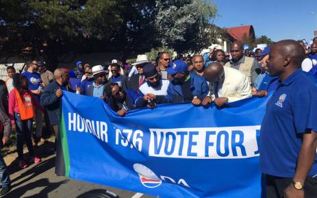 Democratic Alliance leaders marching on 16 June 2016. Picture: Clement Manyathela/EWN.