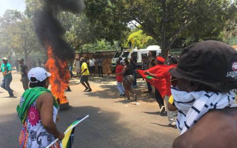 Parent assaulted in EFF scuffle outside Hoërskool Overvaal