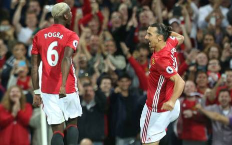 Paul Pogba and Zlatan Ibrahimovic. Picture: Twitter @ManUtd.
