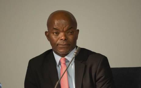 Interim Eskom CEO Phakamani Hadebe at a media briefing on 3 May 2018.  Picture: Christa Eybers/EWN