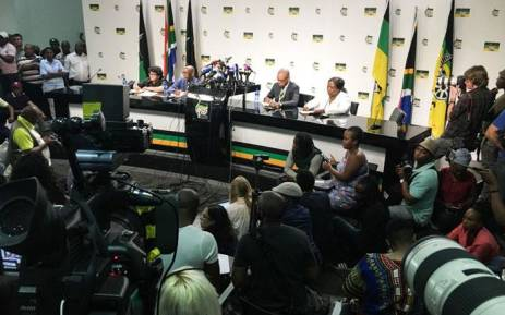 The ANC NEC's briefing on the recall of President Jacob Zuma on 13 February 2018. Picture: Thomas Holder/EWN.