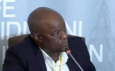 A screengrab of Suspended Gauteng Health HOD Dr Barney Selebano.