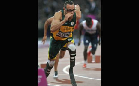 Oscar Pistorius running in the 400m semi-final in the Olympics. Picture: Wessel Oosthuizen/SA Sports Picture Agency.