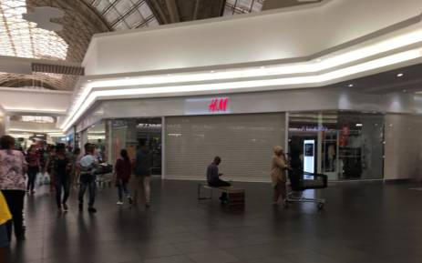 The H&M store at East Rand Mall is closed on Saturday 13 January 2018 after Economic Freedom Fighters staged a protest over an allegedly racist advert. Picture: Masa Kekana/EWN