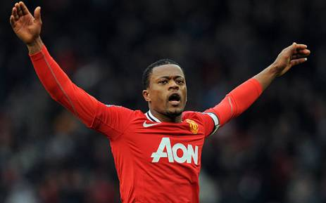 Manchester United player Patrice Evra. Picture: AFP